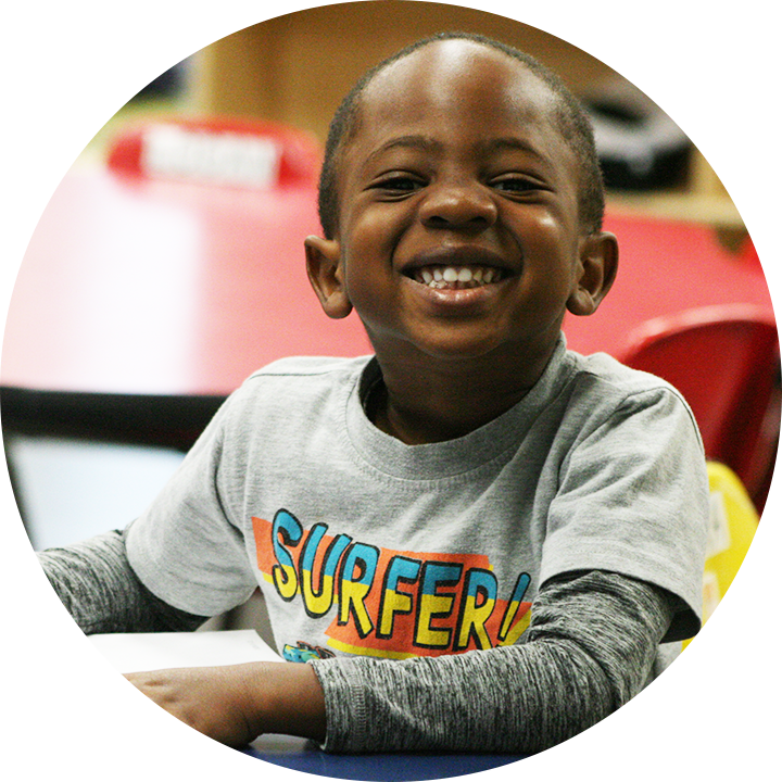 A Smiling Boy at Springs Christian Academy